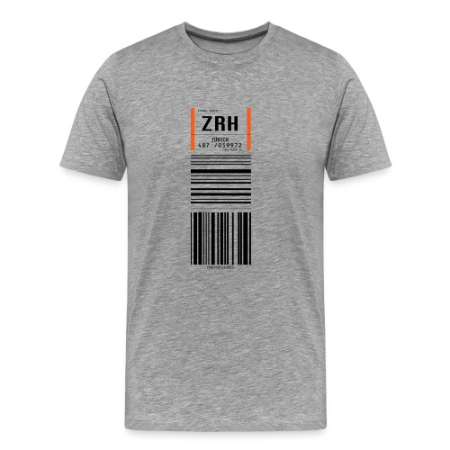 Flughafen Zürich ZRH - Männer T-Shirt - Männer Premium T-Shirt
