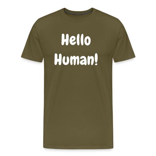 Hello Human - Original -Round Neck - Men's Premium T-Shirt