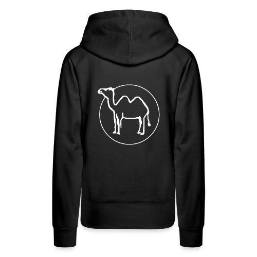 Kamelritthood dam med kamellogga på ryggen - Premiumluvtröja dam