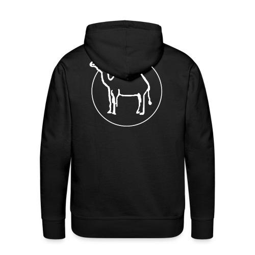 Kamelritthood herr med kamellogga på ryggen - Premiumluvtröja herr