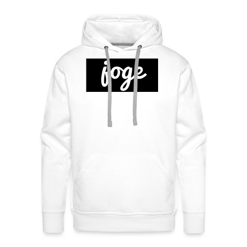 Joge Black and White | Logo - Männer Premium Hoodie