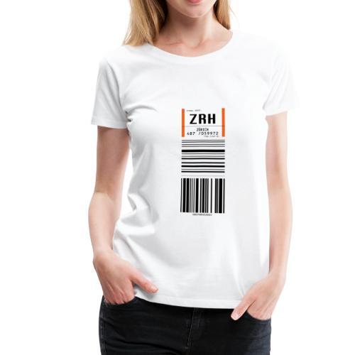 Flughafen Zürich ZRH - Frauen T-Shirt (runder Ausschnitt) - Frauen Premium T-Shirt