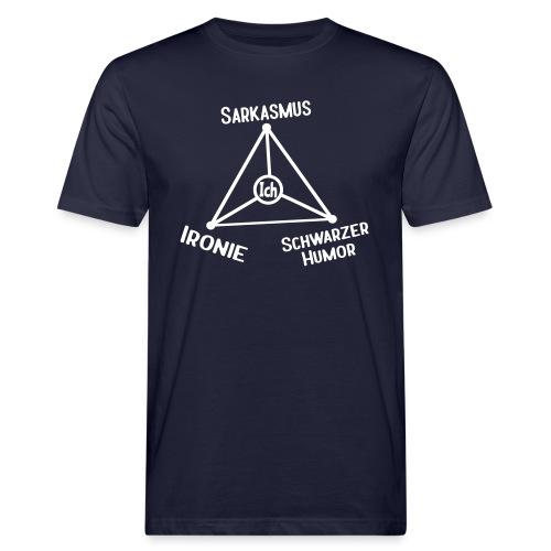 Ironie Sarkasmus Sprüche Dreieck T-Shirts - Männer Bio-T-Shirt