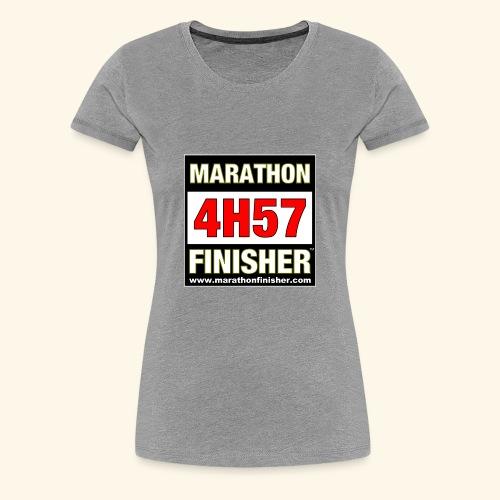 MARATHON FINISHER 4H57 woman - Women's Premium T-Shirt
