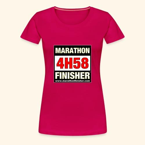 MARATHON FINISHER 4H58 woman - Women's Premium T-Shirt