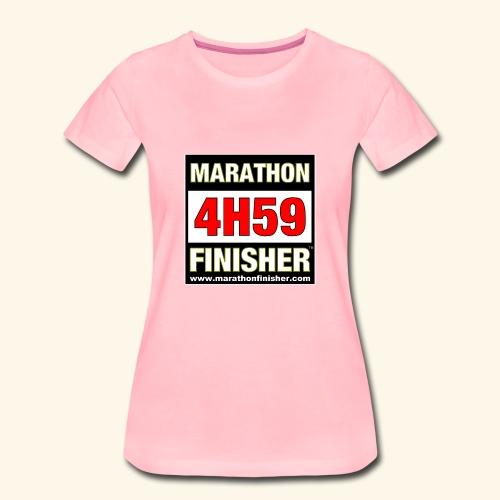 MARATHON FINISHER 4H59 woman - Women's Premium T-Shirt