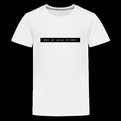 Plus direkt t-shirt med svart tryck (BARN) - Premium-T-shirt tonåring