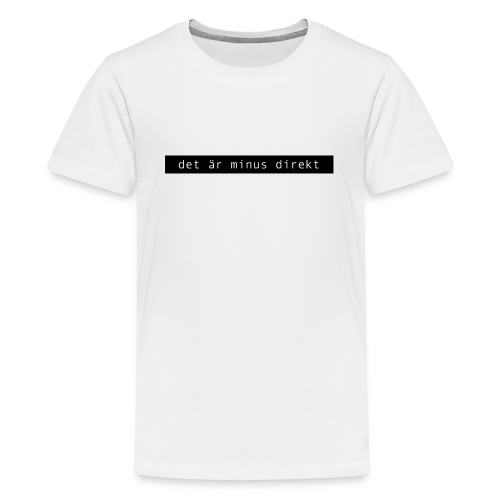 Minus direkt t-shirt med svart tryck (BARN) - Premium-T-shirt tonåring