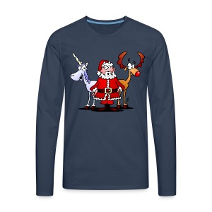 Santa, reindeer, unicorn - Men's Premium Longsleeve Shirt