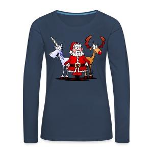 Santa, reindeer, unicorn - Women's Premium Longsleeve Shirt