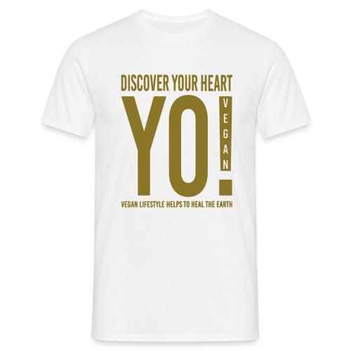 18.YO! VEGAN-Gold-Metallic-MännerShirt-*Die Designwirkung ist besser erstichtlich über Produktansicht und Klick auf Willst Du Dein Design anpassen!  - Männer T-Shirt