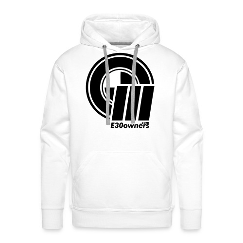 Logo & Domain on Front & Domain on Back White - Men's Premium Hoodie