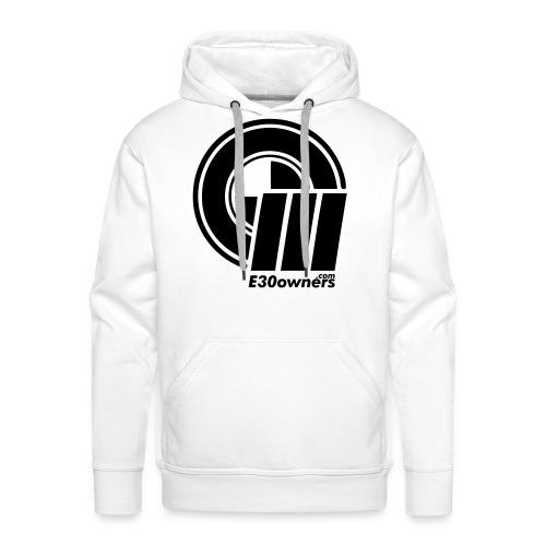 Logo & Domain on Front & Domain on Back White - Men's Premium Hoodie