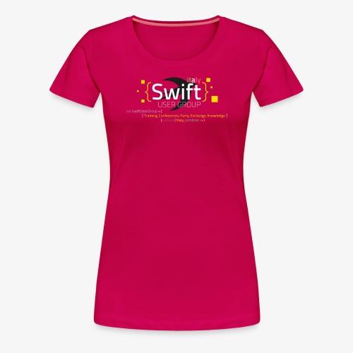 Swiug Borgogna Woman Fixed - Maglietta Premium da donna