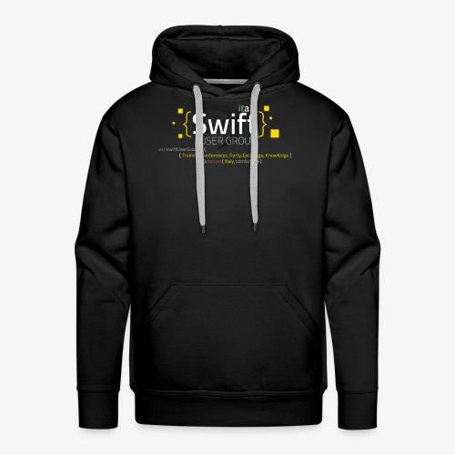 Swiug Black Felpa Fixed - Felpa con cappuccio premium da uomo