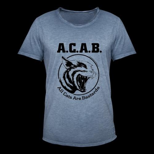All Cats Are Bastards! - Männer Vintage T-Shirt