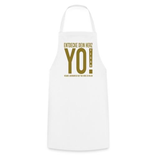 17.YO! VEGAN-German-Gold-Metallic-Schürze-*Die Designwirkung ist besser erstichtlich über Produktansicht und Klick auf Willst Du Dein Design anpassen!  - Kochschürze