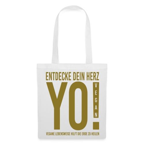 17.YO! VEGAN-German-Gold-Metallic-Stofftasche-*Die Designwirkung ist besser erstichtlich über Produktansicht und Klick auf Willst Du Dein Design anpassen!  - Stoffbeutel
