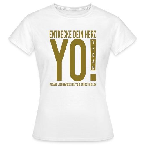 17.YO! VEGAN-German-Gold-Metallic-FrauenShirt-*Die Designwirkung ist besser erstichtlich über Produktansicht und Klick auf Willst Du Dein Design anpassen!  - Frauen T-Shirt