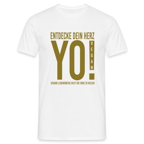 17.YO! VEGAN-German-Gold-Metallic-MännerShirt-*Die Designwirkung ist besser erstichtlich über Produktansicht und Klick auf Willst Du Dein Design anpassen!  - Männer T-Shirt