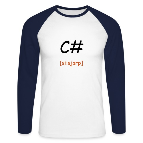 c# t-shirt - Men's Long Sleeve Baseball T-Shirt