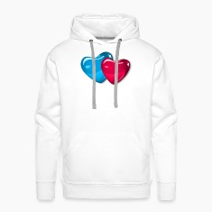 White two couple of hearts - 2 herzen zwei pärchen Hoodies & Sweatshirts