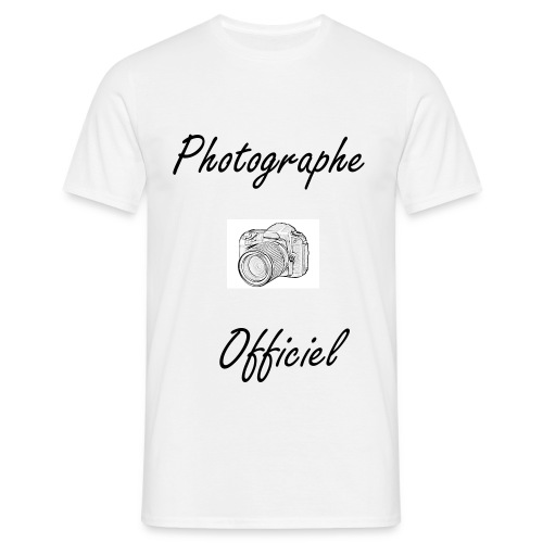 Photographe Officiel - Face - T-shirt Homme