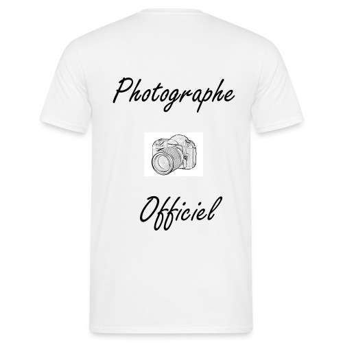 Photographe Officiel - Dos - T-shirt Homme