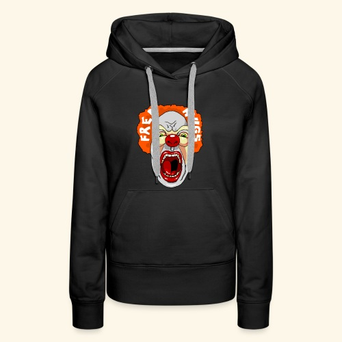 Horror Clown - Sweat-shirt à capuche Premium pour femmes