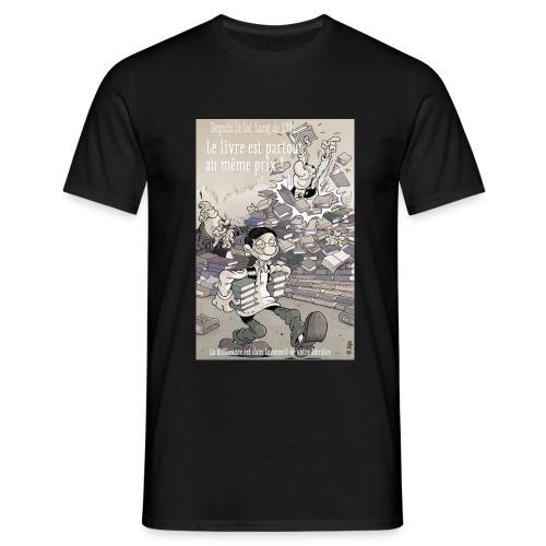 Protégeons le prix unique du livre. - T-shirt Homme