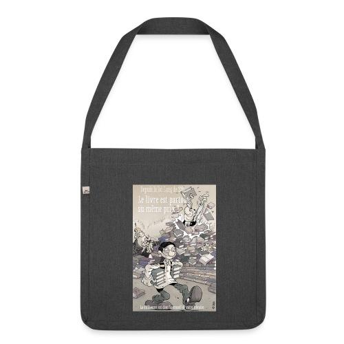sac libraire - Sac bandoulière 100 % recyclé