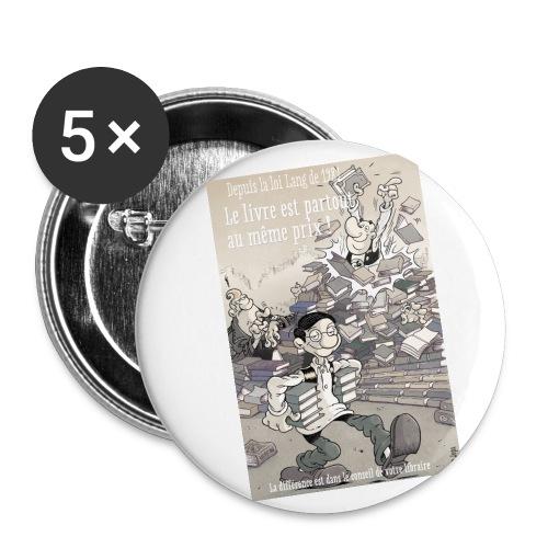 Badge libraire - Badge grand 56 mm