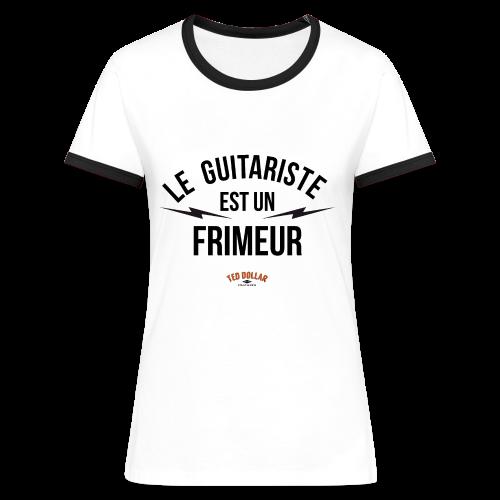 Le guitariste est une frimeur - T-shirt contrasté Femme