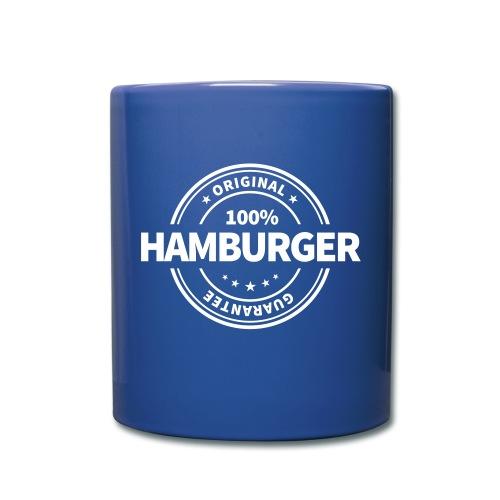 100% Hamburger, garantiert echter Hamburger Becher Mug - Tasse einfarbig