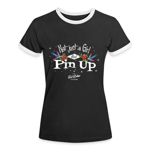 Not Just a Girl but Pin Up - T-shirt contrasté Femme