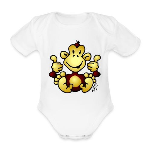 Monkey - Organic Short-sleeved Baby Bodysuit