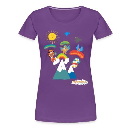 Woman FlyTandem Comic - Frauen Premium T-Shirt