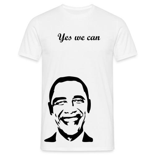 Barrack obama, yes we can  - Mannen T-shirt