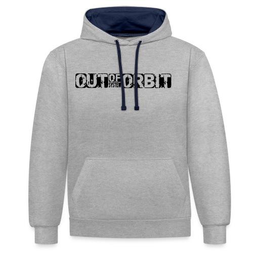 Second Orbit - Blue Grey - Contrast hoodie