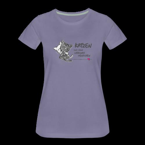 4d4ccaa4d199 Lieblingsmenschen - Frauen Premium T-Shirt   T-Shirts   Frauen ...