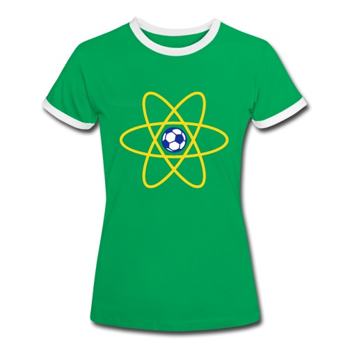 Brazil Football Atom - Women's Ringer T-Shirt
