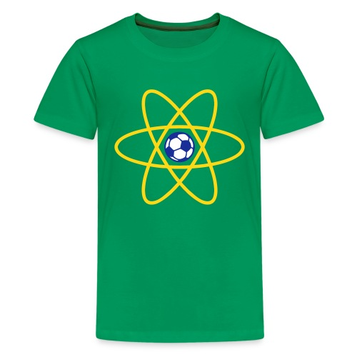 Brazil Football Atom - Teenage Premium T-Shirt