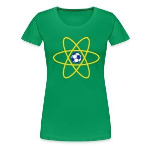 Brazil Football Atom - Women's Premium T-Shirt