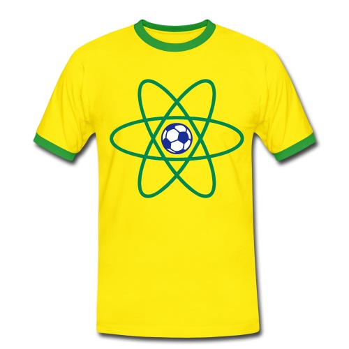 Brazil Football Atom - Men's Ringer Shirt