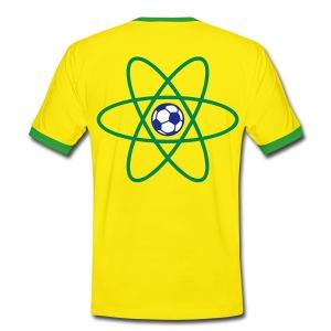 Brazil Football Atom - Men's Ringer Shirt