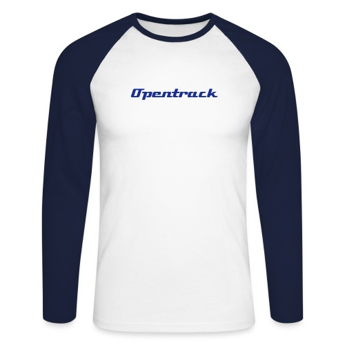 Two tone / logo on back - Men's Long Sleeve Baseball T-Shirt
