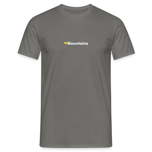 ❤ mountains - Men's T-Shirt