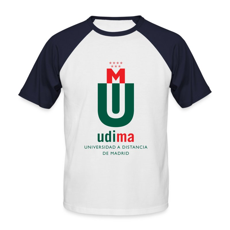 Camiseta béisbol manga corta hombre roja - UDIMA - Camiseta béisbol manga corta hombre