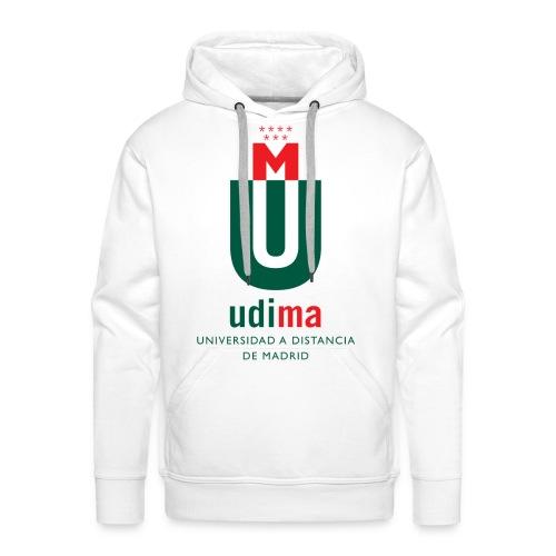 Sudadera capucha hombre logo UDIMA color - Sudadera con capucha premium para hombre