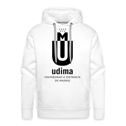 Sudadera capucha hombre UDIMA logo negro - Sudadera con capucha premium para hombre